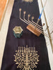 Embroidered Hanukkah Table Runner- Hanukkah Decorations, Peace Love Light Shop