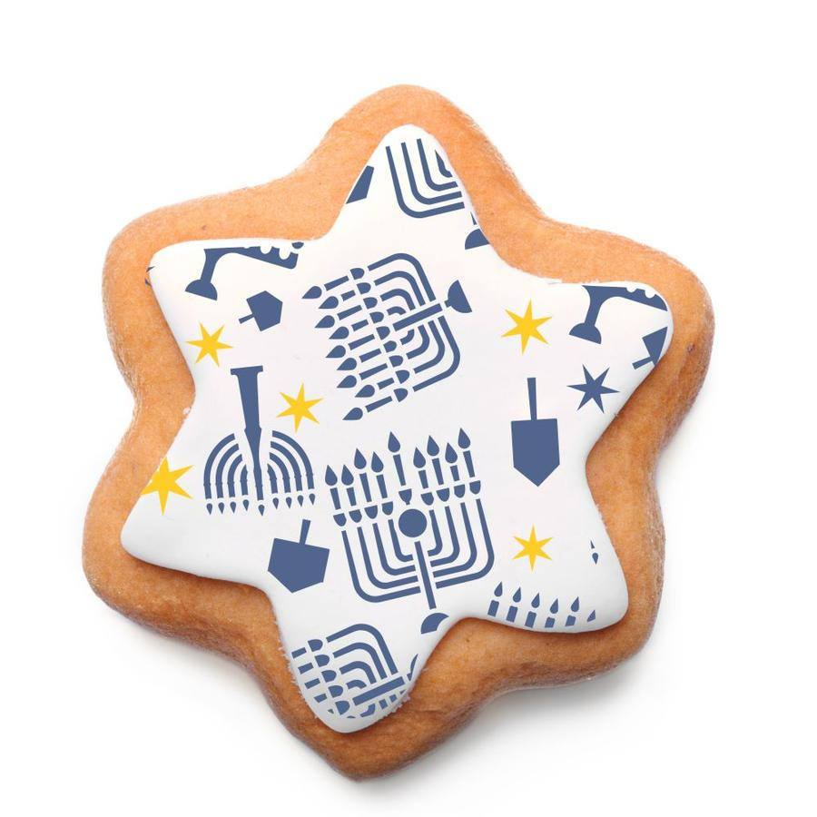 Hanukkah Dreidel & Menorah Cookie Stencil, Hanukkah Craft - Peace Love Light Shop