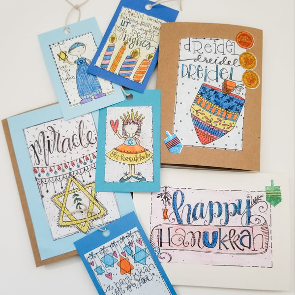 DIY Hanukkah Card Kit, Hanukkah Craft - Peace Love Light Shop