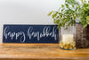 Happy Hanukkah in Navy Wood Sign, Hanukkah Decoration - Peace Love Light Shop