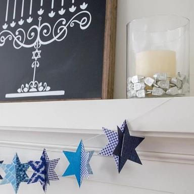 Modern Hanukkah decorations- Peace Love Light Shop