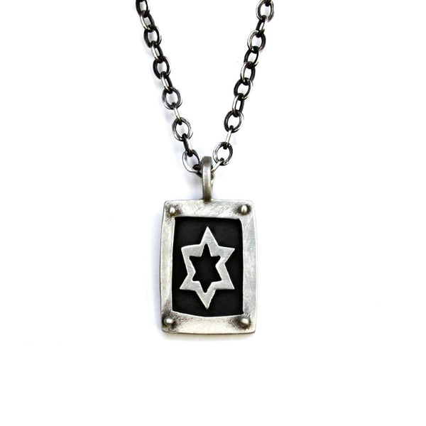 Men's Star of David Necklace - Peace Love Light Shop