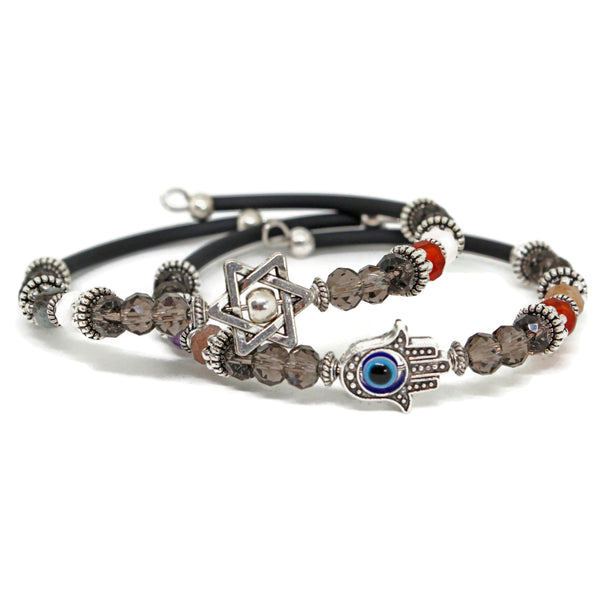 Wire Beaded Bracelet- Peace Love Light Shop