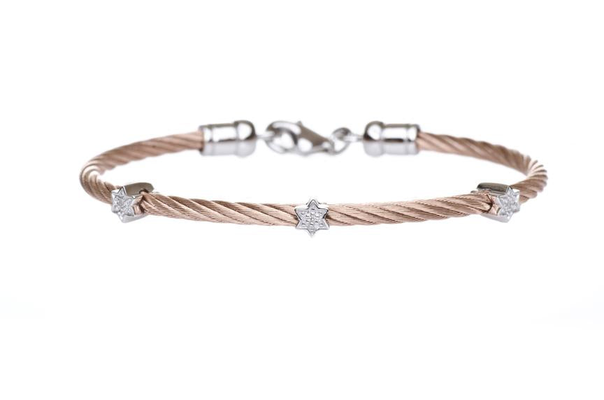 Diamond Jewish Star Bracelet - Peace Love Light Shop