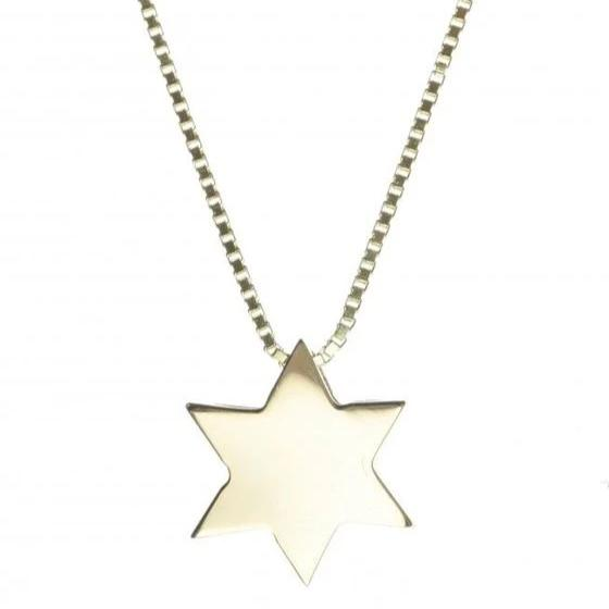 14K Gold Jewish Star Necklace - Peace Love Light Shop