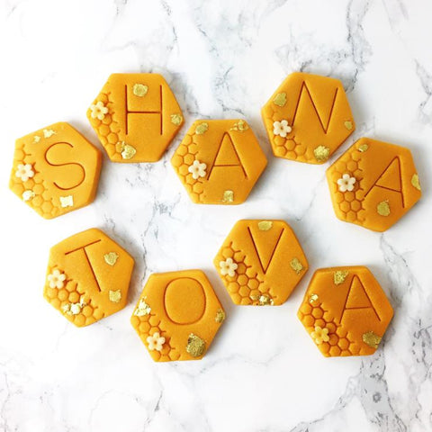 Rosh Hashanah Dessert or Hostess Gift, Marzipan Treats- Peace Love Light Shop