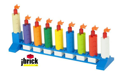 Make your own LEGO menorah- Peace Love Light Shop
