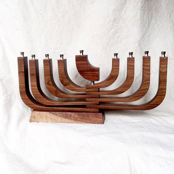Modern Mid-Century Menorah, Peace Love Light Shop