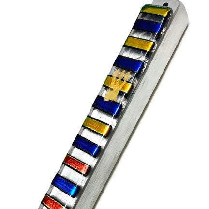 Modern Glass Mezuzah - Peace Love Light Shop