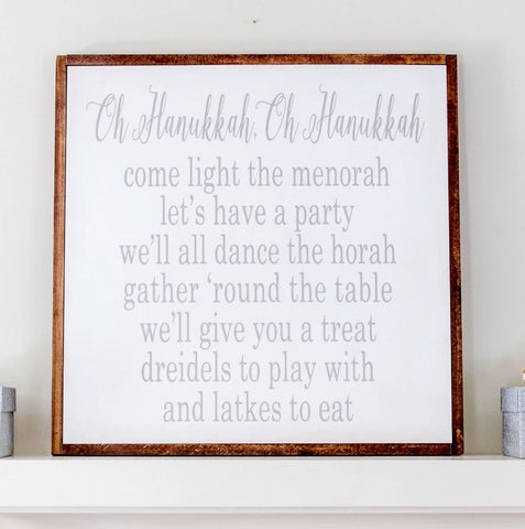 Oh Hanukkah Wood Sign, Hanukkah Decoration - Peace Love Light Shop