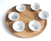 Modern Passover Wood, Ceramic Seder Plate- Peace Love Light Shop