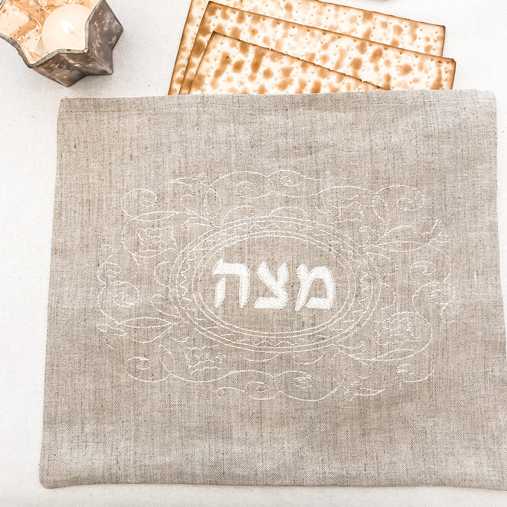 Passover Matzoh Cover- embroidered.  Peace Love Light Shop