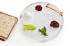 Modern Seder Plate- Silver or Translucent - Peace Love Light Shop