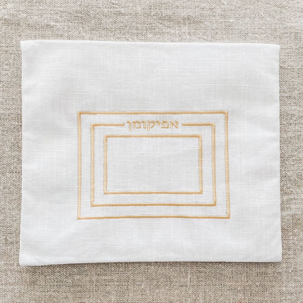 Modern Embroidered Passover Afikoman Bag- Peace Love Light Shop