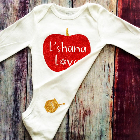 Rosh Hashanah Baby Girl Bodysuit - Peace Love Light Shop