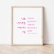 I Am My Beloved's, Song of Songs 6:3, Modern Jewish Art Print