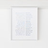 "Shema Deuteronomy 6 4-9, ""Hear, O Israel!"", Modern Jewish Art Print - Peace Love Light Shop"