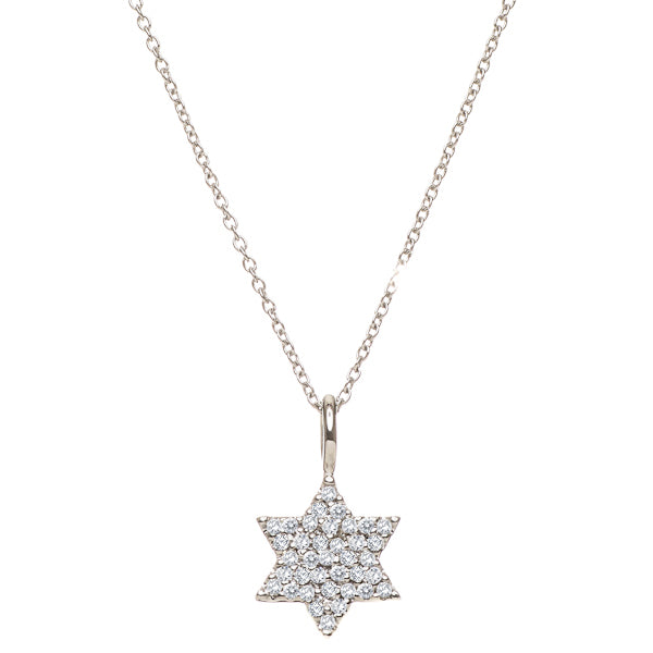 Diamond Star of David Necklace - Peace Love Light Shop