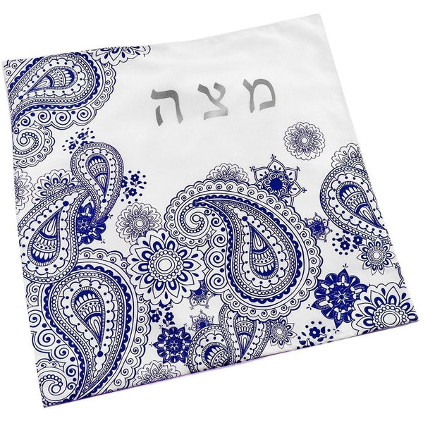 Blue Paisley Matzoh Cover - Peace Love Light Shop