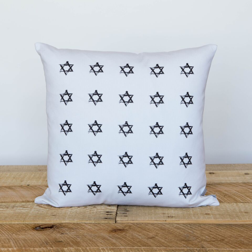 Stamped Stars Pillow- FINAL SALE - Peace Love Light Shop