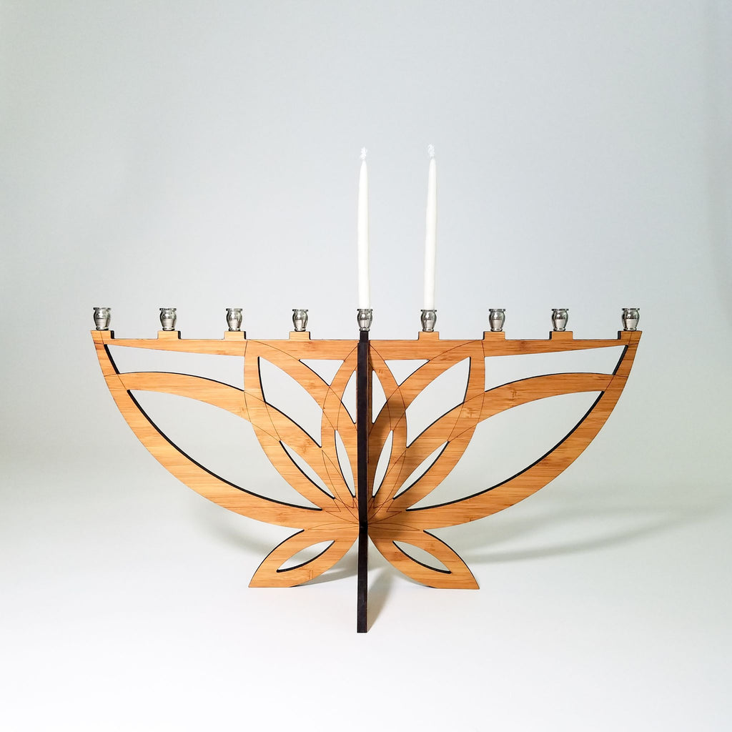 Lotus Flower Menorah, Travel Menorah - Peace Love Light Shop