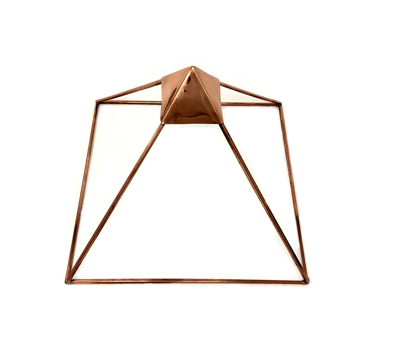 "Copper Pyramid 9""- 100% PURE Copper Charging Pyramid - charge your healing crystals and stones - Clearing • RECHARGE • ENHANCE"