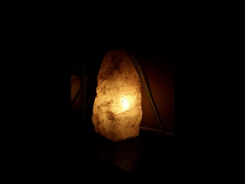 Rose Quartz Lamp Natural Base