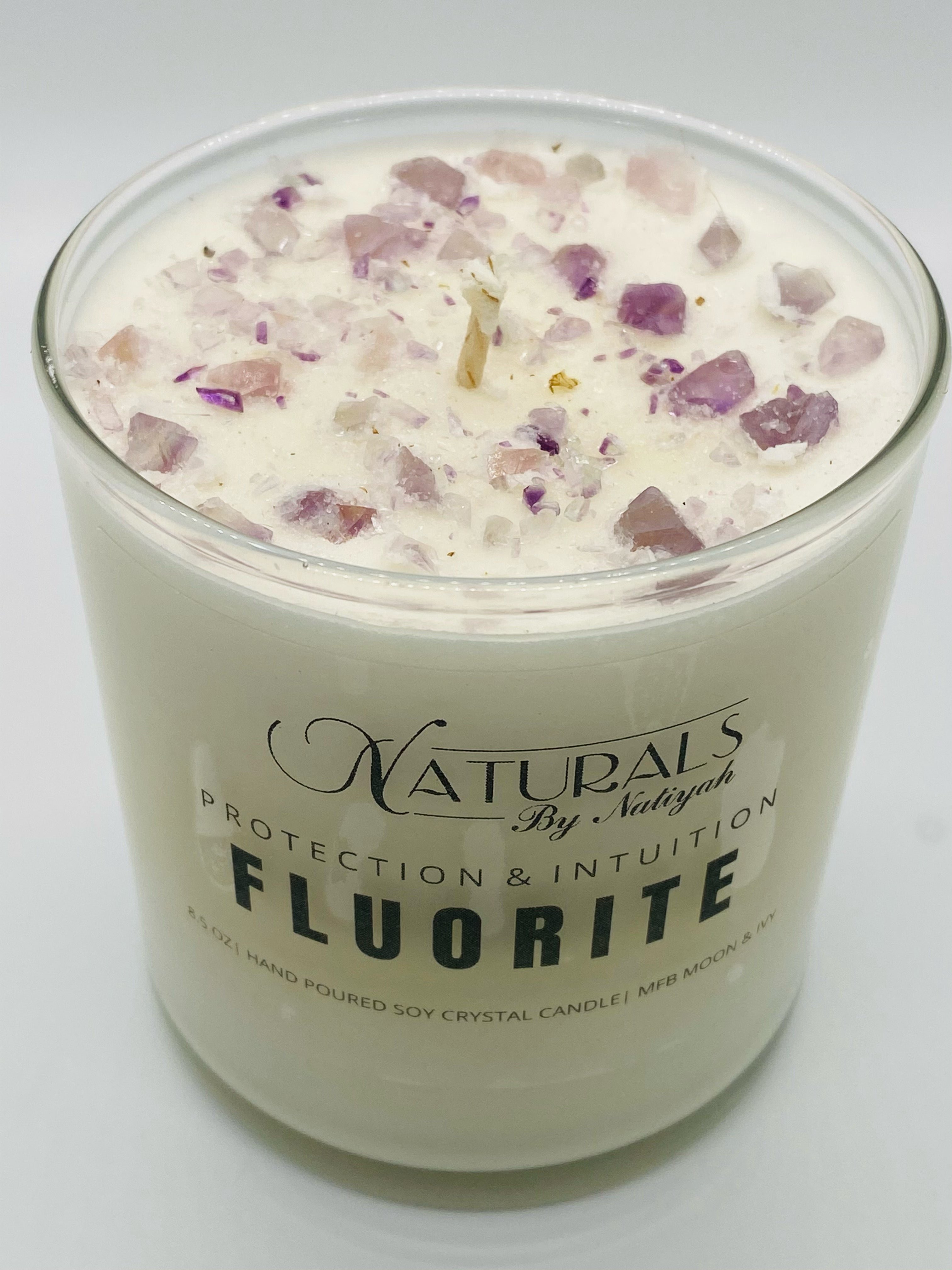 Candles Infused with Essential oils and crystals