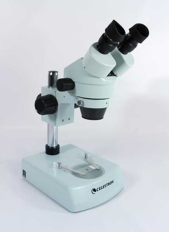Front left view of the Celestron Professional Stereo Zoom Microscope (SKU: 44206).