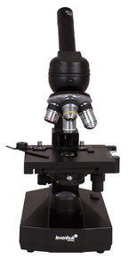 Front view of the Levenhuk 320 Biological Microscope (SKU: 18273).