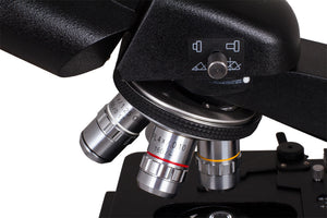 Objectives for the Levenhuk 870T Biological Trinocular Microscope (SKU: 24613).