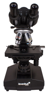 Front view of the Levenhuk 870T Biological Trinocular Microscope (SKU: 24613).