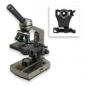 Carson MS-100SP Smartphone Microscope with smart phone adaptor detached.