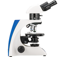 Left side view of the Front view of the LW Scientific Binocular Mi5 Polarizing Microscope for Rheumatology (SKU: M5M-BPOL-iPH3).