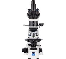 Front view of the Trinocular LW Scientific Mi5 Polarizing Microscope for Rheumatology (SKU: M5M-TPOL-iPH3).