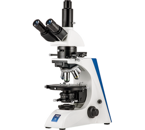 Front right view of the Front view of the LW Scientific Trinocular Mi5 Polarizing Microscope for Rheumatology (SKU: M5M-TPOL-iPH3).