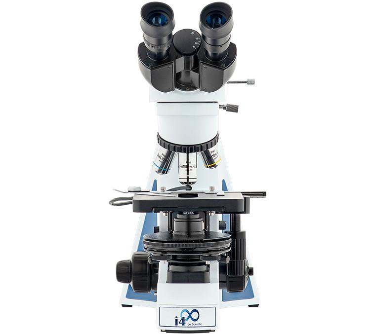 Front view of the LW Scientific Binocular i4 Semen Evaluation Microscope (SKU: i4S-SEB4-iPL3).