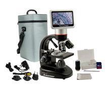 Celestron Pentaview LCD Digital Microscope (SKU: 44348) with accessories.