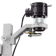 Lamp and condenser of the 40x-800x Inverted Tissue Culture Trinocular Microscope (SKU: IN200TAB).