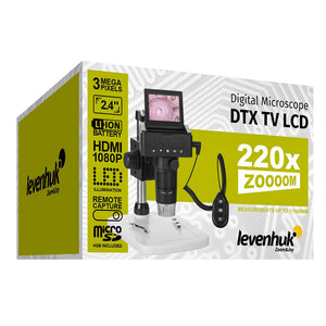 Box for Levenhuk DTX TV LCD Digital Microscope.