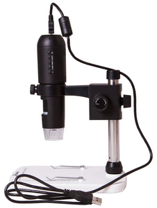 Side view of Levenhuk DTX TV Digital Microscope (SKU: 70422).