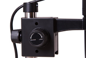 Focusing knob of Levenhuk DTX TV Digital Microscope (SKU: 70422).