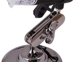 Close up of the adjustable stand for the Levenhuk DTX 30 Digital Microscope (SKU: 61020).