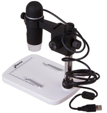Back left view of the Levenhuk DTX 90 Digital Microscope (SKU: 61022).