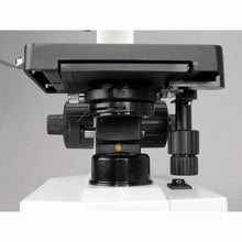 Stage, light, and condenser for the AmScope 40X-2500X Advanced Monocular Microscope w/ 3D-Stage Book Slides & Carrying Case (SKU: M600C-AC-CM-PS100E-50P100S).