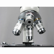Objectives for the AmScope 40X-2500X Advanced Monocular Microscope w/ 3D-Stage Book Slides & Carrying Case (SKU: M600C-AC-CM-PS100E-50P100S).