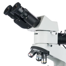 Eyepieces and objectives for the Amscope 50X-500X Binocular Polarized-light Metallurgical Microscope (SKU: ME580B-PZ).