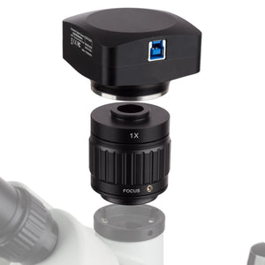 Camera for the AmScope 7X-45X Advanced Stereo Gemology Microscope with LED Top-light (SKU: GM400T-LED-20MBI3).