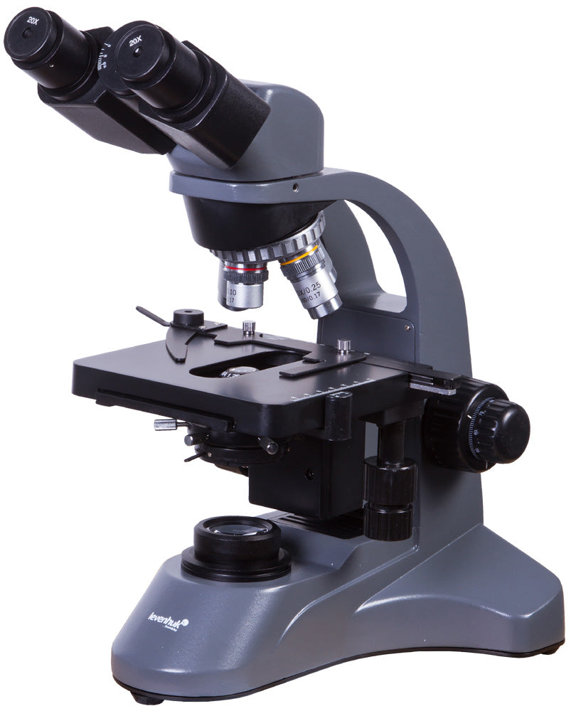 Front right view of Levenhuk 720B Binocular Microscope (SKU: 69656).