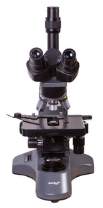 Front view of the Levenhuk 740T Trinocular Microscope (SKU: 69657).